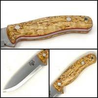 Mk II TBS Timberwolf Bushcraft Knife - Standard Sheath - Curly Birch